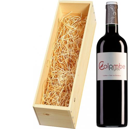 Wijnkist met Château Peyrou Castillon Côtes de Bordeaux Colombe de Peyrou