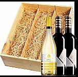 Wijnkist met Collefrisio 2 Montepulciano en 1 Trebbiano Filarè