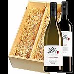 Wijnkist met La Cour des Dames Merlot en Chardonnay