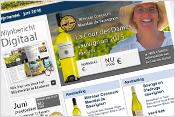 Maandelijks digitaal Wijnbericht, met wekelijkse updates omtrent proefpakketten gerelateerd aan het seizoen.