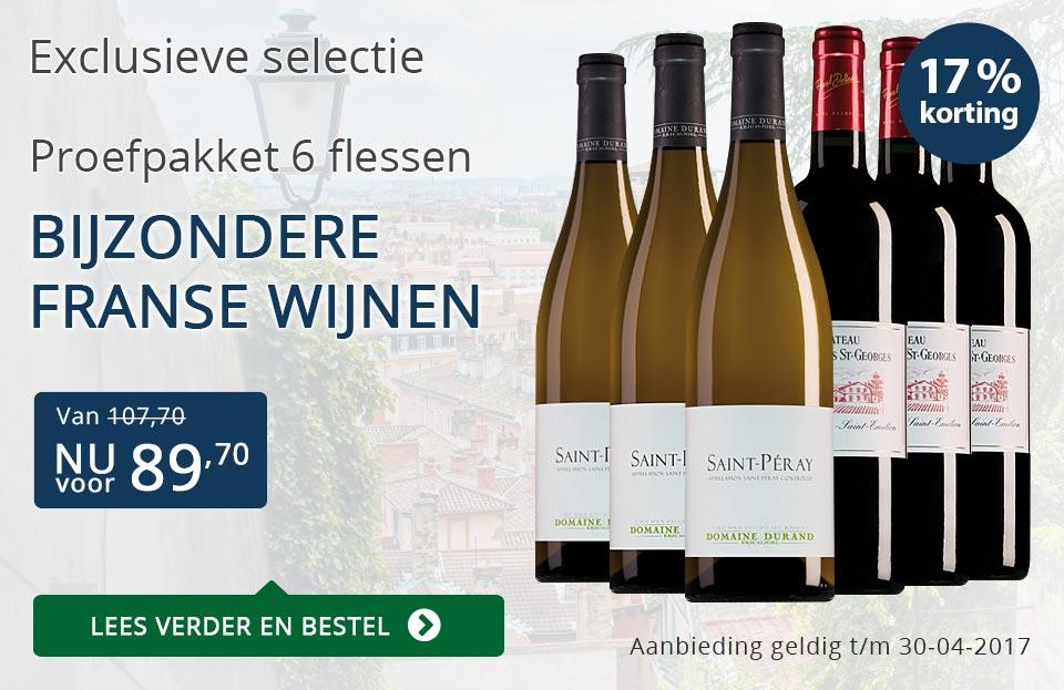 Proefpakket bijzondere franse wijnen (89,70) - blauw