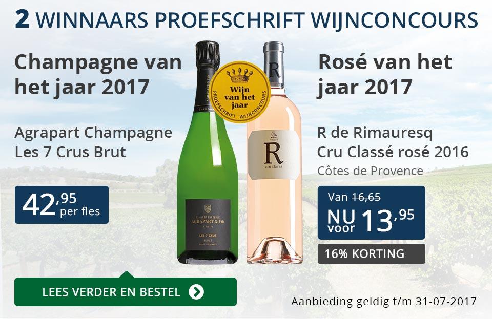 Proefschrift Wijnconcours: 2 winnaars - blauw