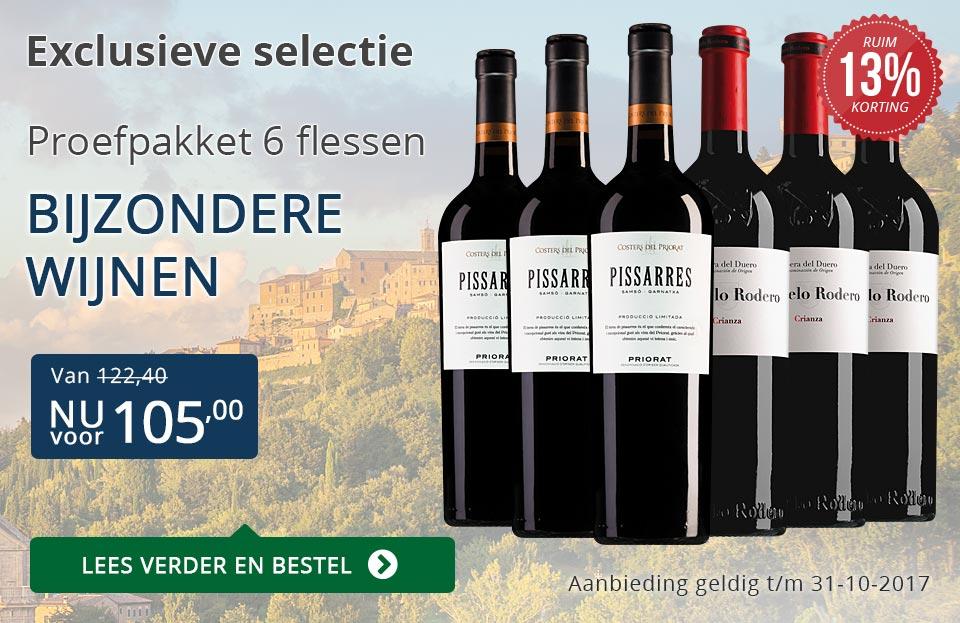 Proefpakket bijzondere wijnen oktober 2017 (105,00) - blauw