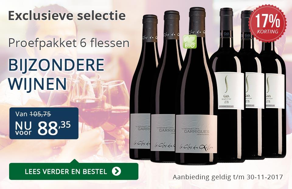 Proefpakket bijzondere wijnen november 2017 (88,35) - blauw
