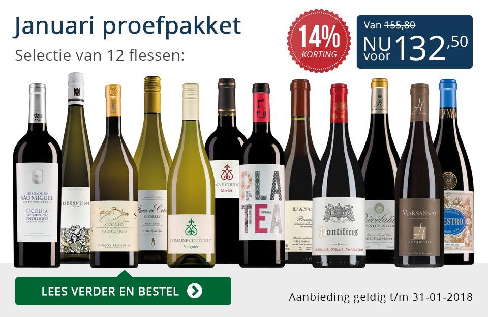 Proefpakket wijnbericht januari 2018 (132,50) - blauw