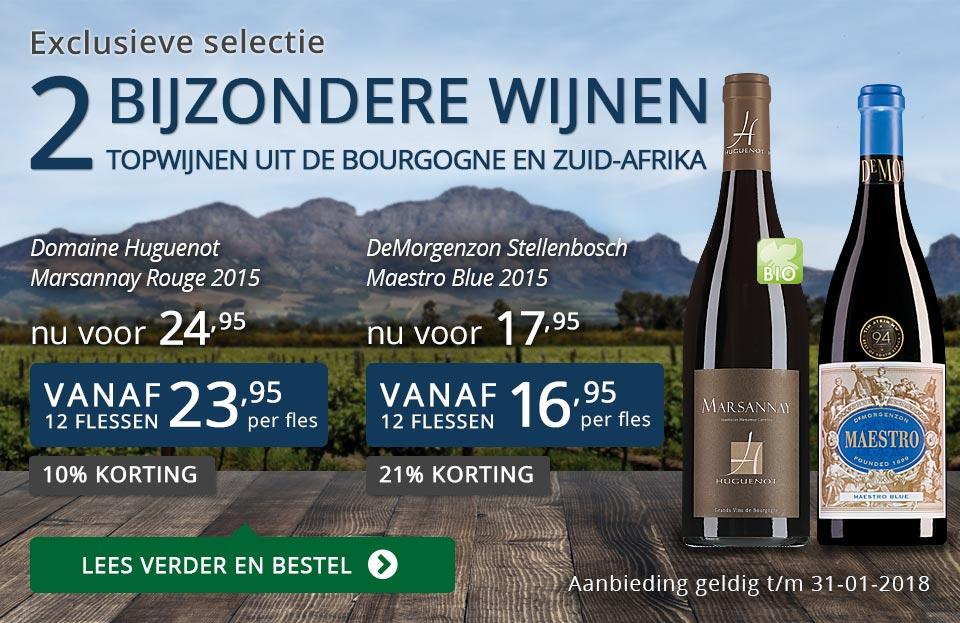 Exclusieve wijnen januari 2018 - blauw