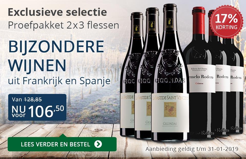 Proefpakket bijzondere wijnen januari 2019 (106,50) - blauw