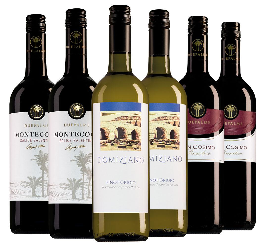 Wijnpakket Due Palme (3x2 flessen)