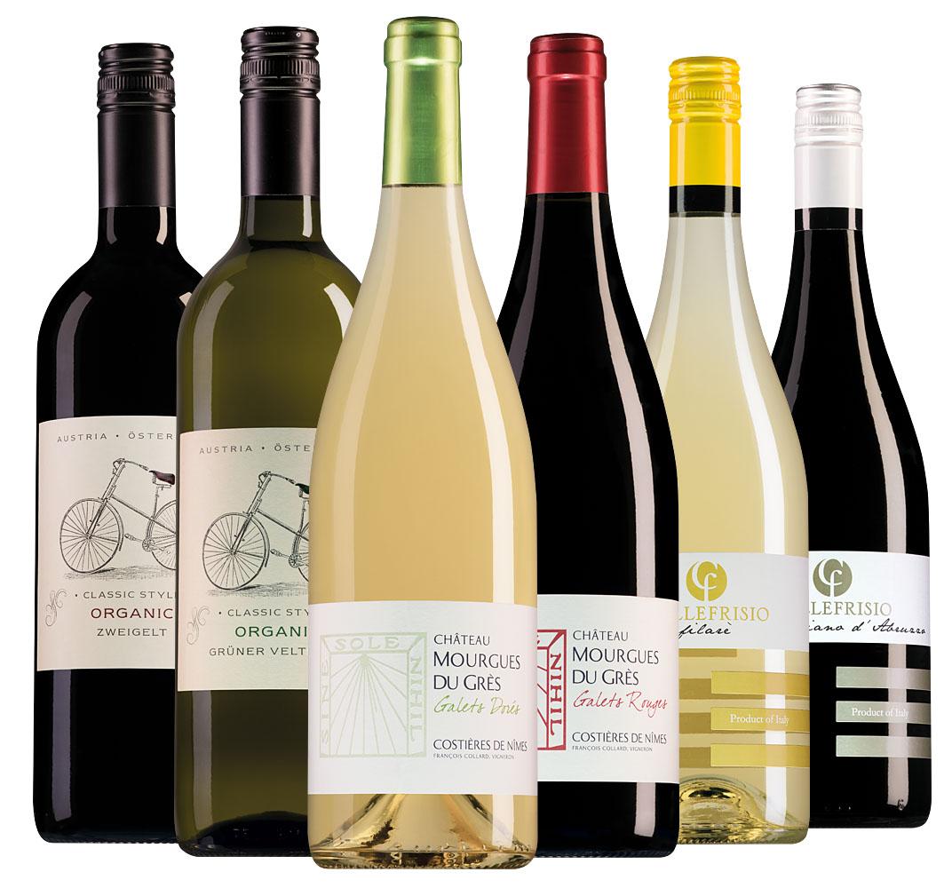 Wijnpakket bio-wijnen (6 flessen)