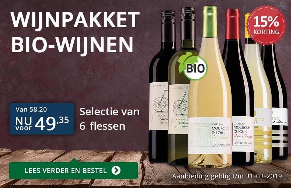 Wijnpakket BIO (49,35) - blauw