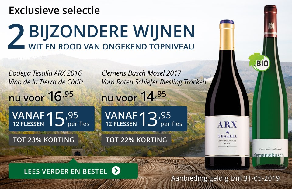 Twee bijzondere wijnen mei 2019- blauw