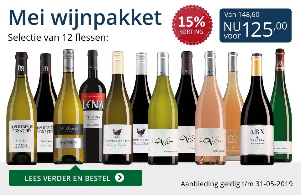 Wijnpakket wijnbericht mei 2019 (125,00) - blauw