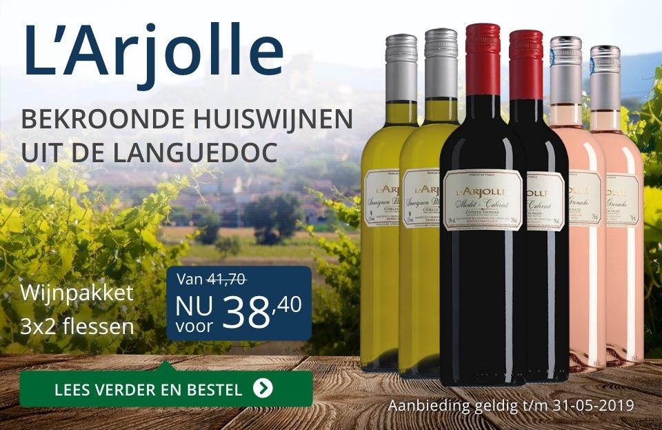 Wijnpakket L'Arjolle mei 2019 (38,40) - blauw