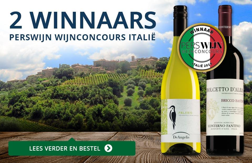 2 Winnaars in het Perswijn Wijnconcours Italië - blauw