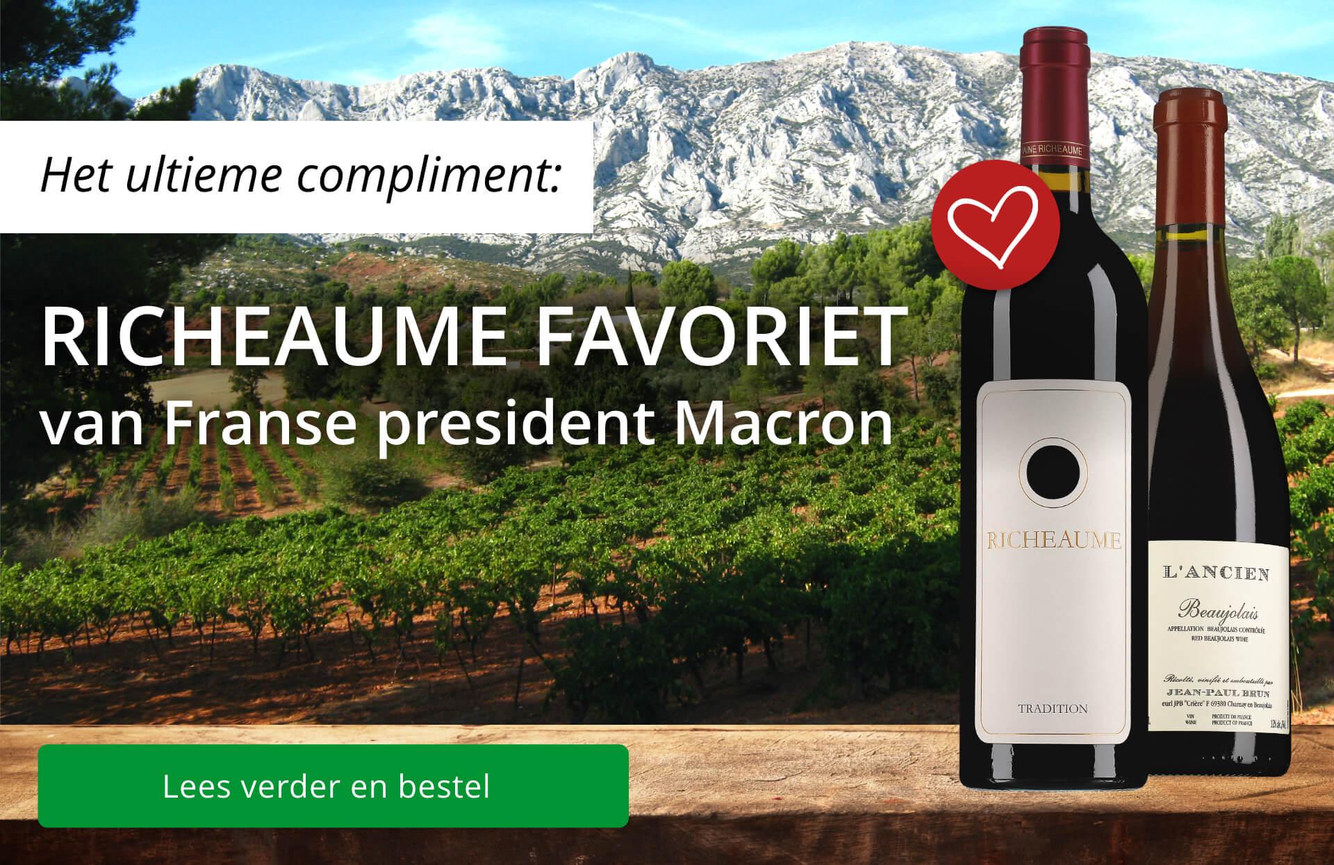 Richeaume favoriet van Macron