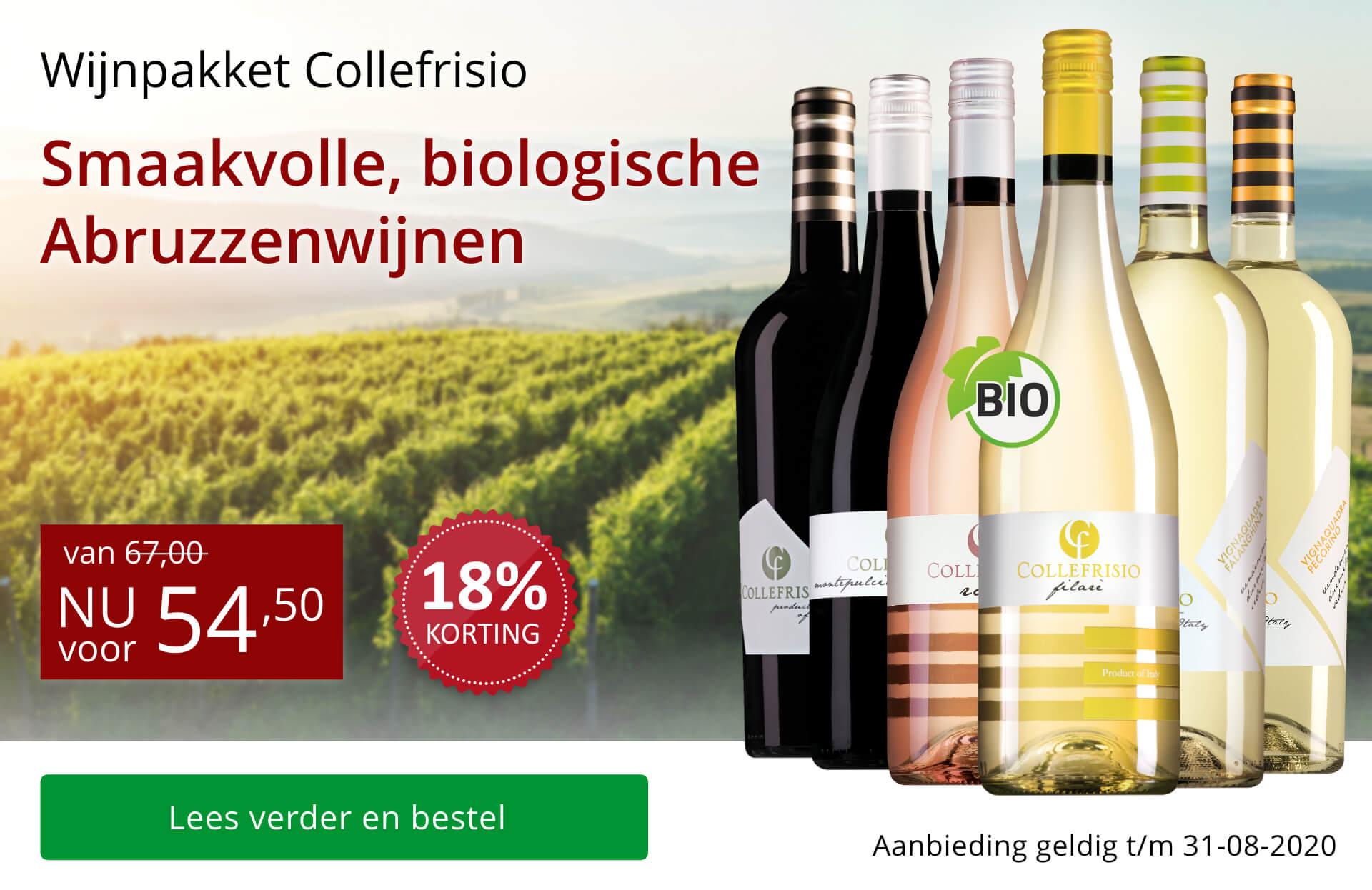 Wijnpakket Collefrisio - rood