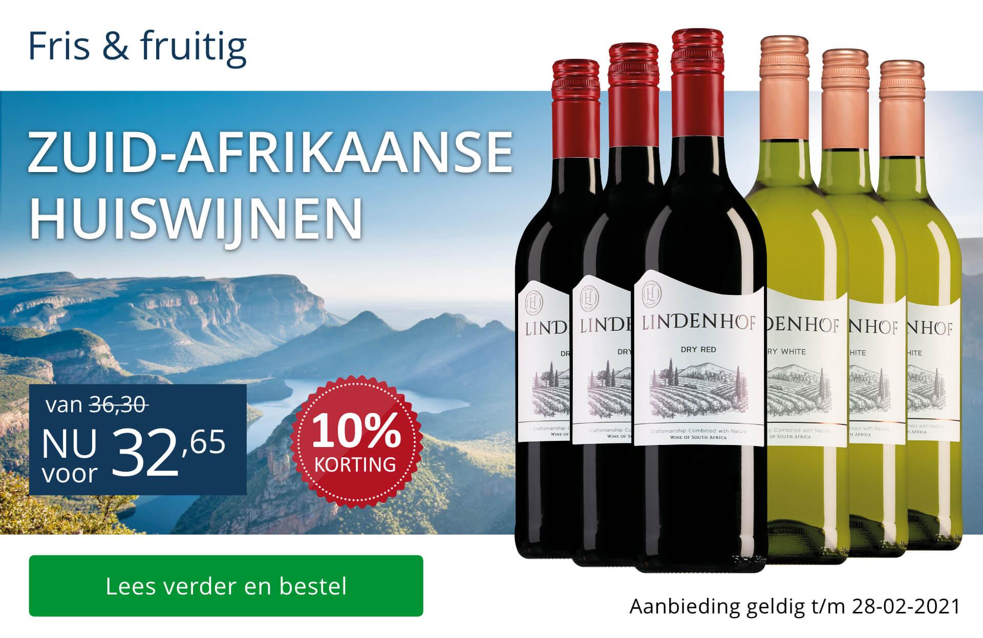 Wijnpakket huiswijnen Zuid-Afrika-blauw