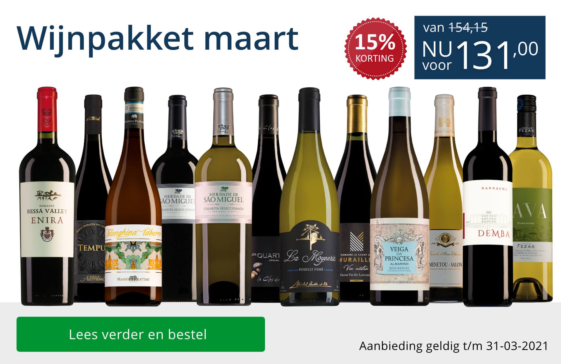 Wijnpakket wijnbericht maart 2021(131,00) - blauw